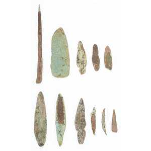 Old Copper Culture Points and Tools, From the Collection of Roger