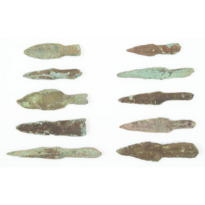 Old Copper Culture Socketed Points, From the Collection of Roger