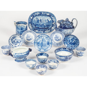 Blue Staffordshire and Transferware