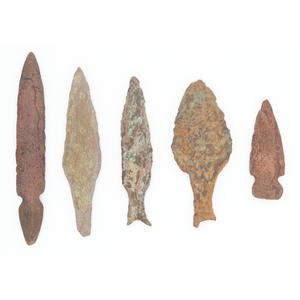 Old Coper Culture Flat Projectile Points, From the Collection of Roger