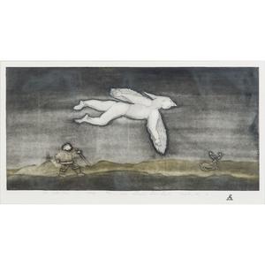 Simon Shaimaiyuk (Inuit, 1915-1999) Etching on Paper