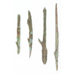 Old Copper Culture Muskrat Spears PLUS A Harpoon, From the Collection of Roger