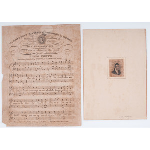 Marquis de Lafayette, Collection of Engravings, Lithographs, Sheet Music, and Ephemera from American Publishers