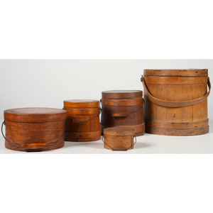 Firkins and Bail-Handled Pantry Boxes