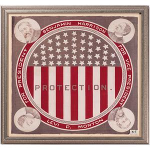 Harrison & Morton 1888 Campaign Bandanna, Plus