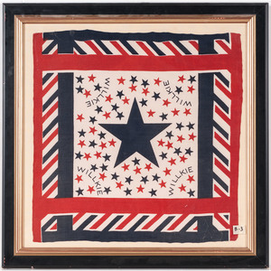 Wendell Willkie 1940 Campaign Bandanna