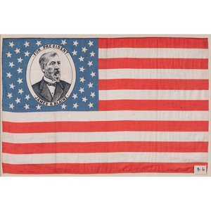 James G. Blaine 1884 Campaign Parade Flag