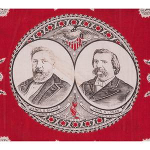 Blaine & Logan 1884 Campaign Bandanna