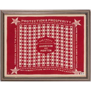 Harrison & Morton 1888  Protection & Prosperity Campaign Bandanna