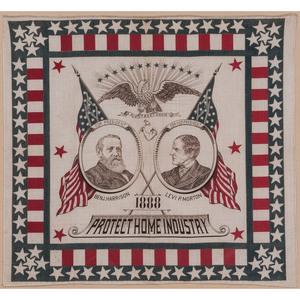 Harrison & Morton 1888 Campaign Bandanna