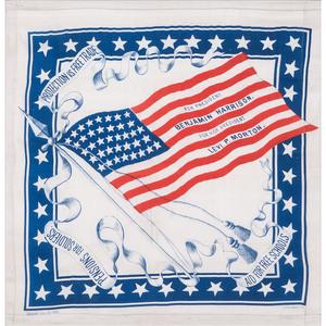 Harrison & Morton 1888 American Flag Campaign Bandanna