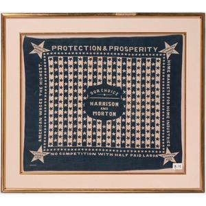 Harrison & Morton 1888 Campaign Textile