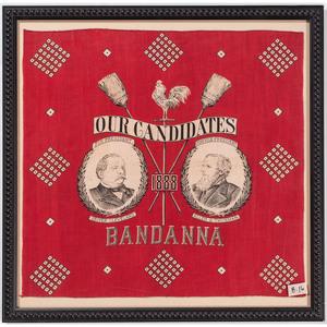 Cleveland & Thurman 1888 Campaign Textile