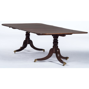 A George III Mahogany Pedestal Dining Table