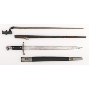 Lot of Two European Bayonets