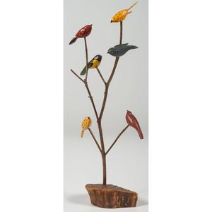 Folk Art Bird Tree Carvings by Ken Gruver