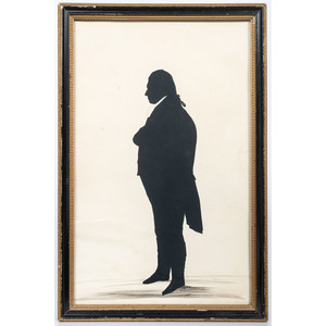 Hollow-cut Full-Length Silhouette of a Man by W. Seville