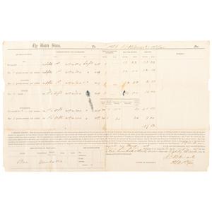 J.E.B. Stuart Thrice Signed Pre-War Pay Voucher