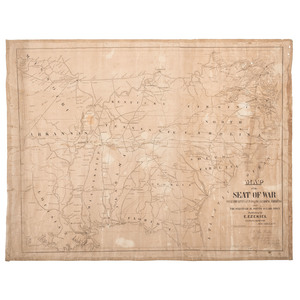 Exceptionally Rare Confederate Map of the Seat of War