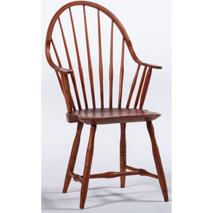 Red Wash Windsor Armchair by B. Green