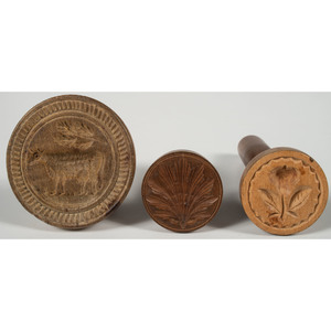 Miniature Turned Wood Butter Molds