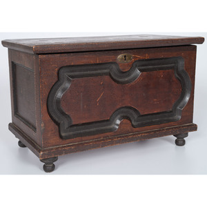 Paneled Miniature Blanket Chest