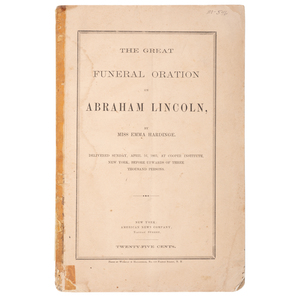 Lincoln Assassination, Three Funeral Sermons Preached During the Time of National Mourning
