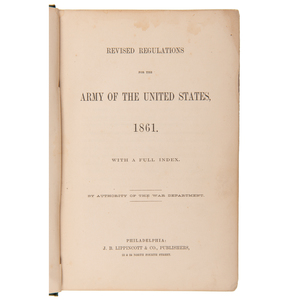 Revised Regulations for the Army of the United States, 1861 and 1863