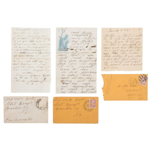 Battle Content Letter Archive of Private Watson Barber, 142nd New York Volunteers, 1862-1865