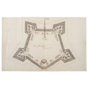 Civil War Sketch of Fort Totten, New Bern, North Carolina, Plus Three Related Ordnance Documents, 1862-1864