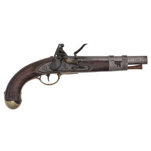 S.North Model 1811 Flintlock Single Shot Martial Pistol