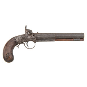 A.W. Waters All Metal Single-Shot Percussion Pistol