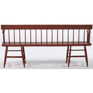 Painted Windsor Bench