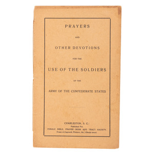 Rare Confederate Imprint, Prayers...for the Use of the Soldiers