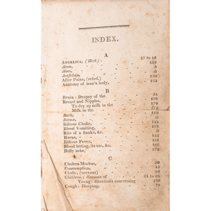 [Americana - Medicine - Kentucky Imprints] Rare Medical Herbal/Midwifery Published in Frankfort, Kentucky in 1815; OCLC Shows only 1 (AAS)