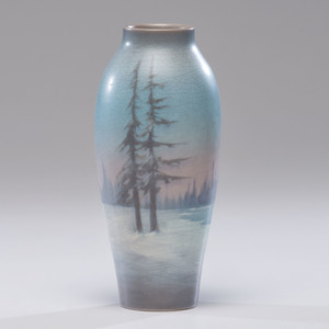 Rookwood Pottery Scenic Vellum Vase, Elizabeth McDermott