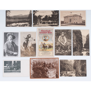 Postcards and Ephemera Relating to Buffalo Bill and the West, Descended Directly in the Cody/Garlow Family