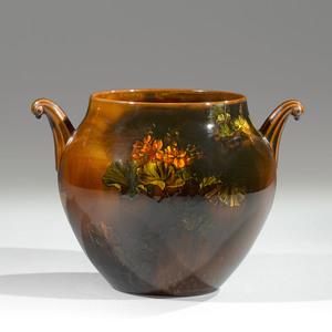 Rookwood Pottery Tiger-Eye Vase, Albert Valentien