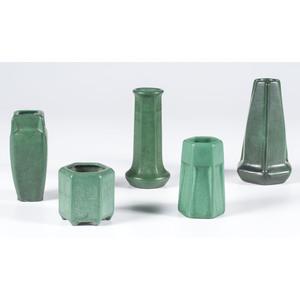 Weller Matte Green Vases