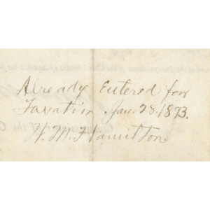 [Americana - Presidents - Autographs] James Monroe Presidential Signed Land Grant