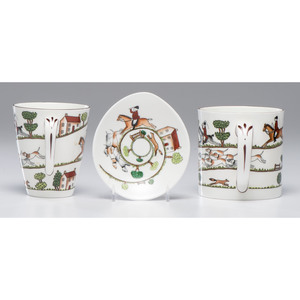 Coalport Service in Hunting Scene Pattern, Plus
