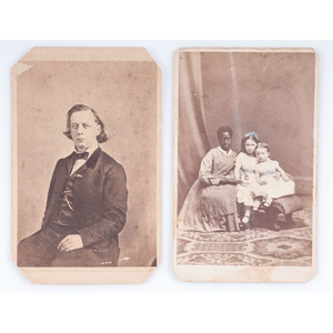 CDV of African American Woman with Young Children, Plus
