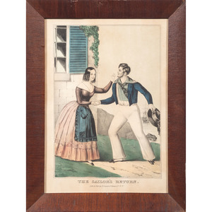 Nathaniel Currier (American, 1813-1888) Sailor Lithographs