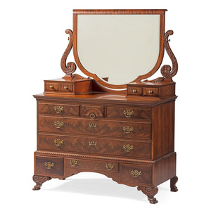 Classical-style Gentleman's Chest with Mirror