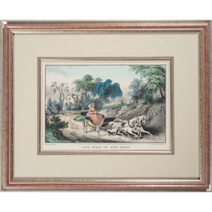 Currier & Ives Lithographs, Landscape, Fruit & Flowers and The Star of the Road
