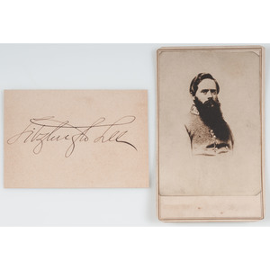 General Fitzhugh Lee CDV with Clipped Signature