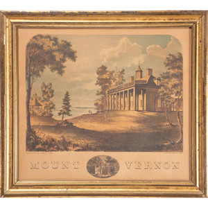 Mt. Vernon Lithograph by Wells and Collins