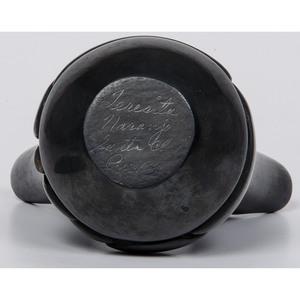 Teresita Naranjo (Santa Clara, 1919-1999) Backware Pottery Wedding Jar