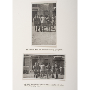 Prince of Wales Tour of Italy, 1918, Collection of 18 Photographs, Plus