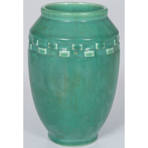 Rookwood Pottery Vase in Green Vellum Glaze
